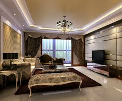 luxurious living room interior design with antique white wooden