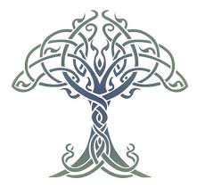 celtic tree of stencil designs from stencil kingdom