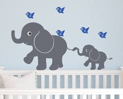 kids vinyl wall decal children elephants and birds children wall decal elephants and birds zoom
