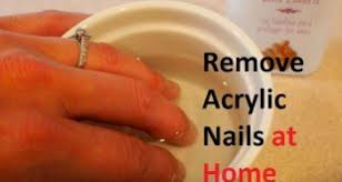 how to get acrylic nails off