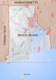 Rhode Island rivers images Physical map of rhode island jpg