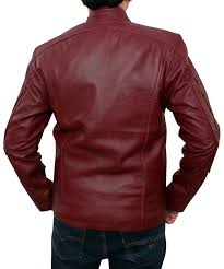 best moto jacket amazon com star lord galaxy red leather moto bomber guardians