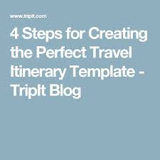 travel itinerary example formal vacation trip planner template