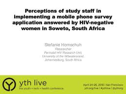 perceptions of study staff in implementing a mobile phone survey appl u2026