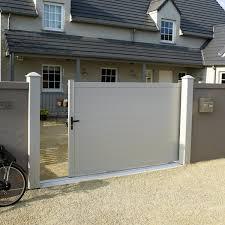 portillon jardin leroy merlin portail coulissant aluminium lao blanc naterial l 312 cm x h 170