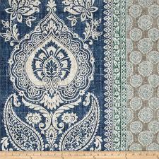 Lisa Fine Textiles by Mandha Indigo Echo Design Fabric 55 Linen 45 Cotton Fabric