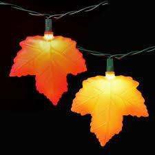autumn leaf string lights 10 lights