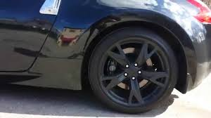 nissan 370z tire size clean black nissan 370z plasti dipped rims 19 inch ray u0027s forged