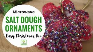 how to make microwave salt dough ornaments