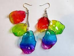 plastic bottle earrings recycle plastic bottle into earrings tutorial