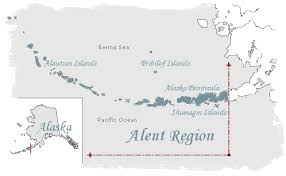 map of aleutian islands region history
