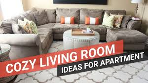 cozy living room ideas for small apartments youtube