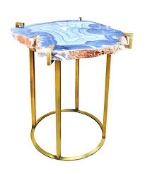 faux agate side table agate accent table agate side table in a tone threshold glass faux