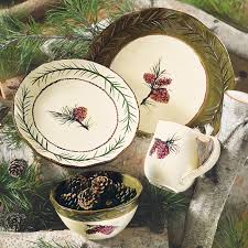 pinecone stoneware dinnerware set 16 pcs