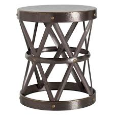 Large Side Table Costello Brass Hammered Metal Open Accent Side Table Large