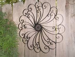 wall art design ideas white rod iron art for walls sample