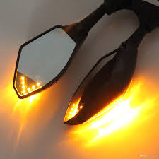 lighting and mirrors online black motorcycle led turn signals rearview sport bike mirrors for