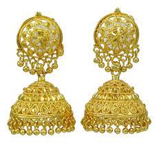 jhumki style earrings in gold gold plated jhumka earring indian women wedding jewelry