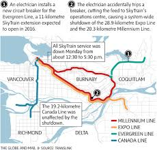 vancouver skytrain map electrician suspended in connection with vancouver s skytrain