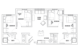 bath floor plans floor plans west student housing des moines ia