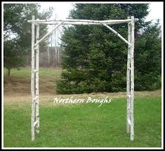 winter special birch wedding arch arbor kit large birch