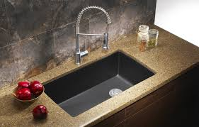 Battle Of The Black Granite Fair Kitchen Sinks Granite Composite - Black granite kitchen sinks