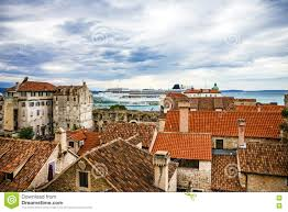 Split Houses by Split Croatia Town Houses And Sea Port Stock Photo Image 78879170