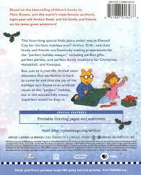 image arthur u0027s perfect christmas 2012 dvd back jpg arthur wiki