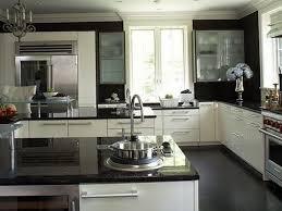 Black And Oak Kitchen Cabinets - wood kitchen cabinets black granite home design ideas