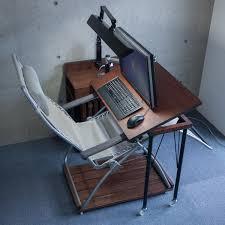 Diy Adjustable Desk Hovering Diy Work Desk With Futuristic Design Also Adjustable Top