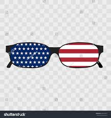 Flag Sunglasses Sunglasses United States America Flag Illustration Stock Vector