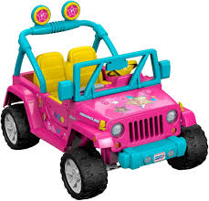 purple barbie jeep power wheels barbie jeep wrangler 12 volt ride on toys