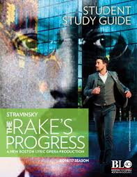 the rake u0027s progress a student study guide by boston lyric opera