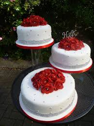 Square Wedding Cakes Perfect Red And White Wedding Cakes Image Best 495 Johnprice Co
