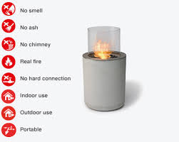 Portable Indoor Outdoor Fireplace by Jar Commerce Portable Ethanol Fireplace Planika