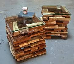 recycled wood recycled wooden pallet end tables recycled things