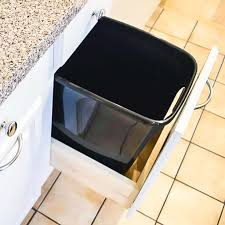 In Cabinet Trash Cans For The Kitchen Diy Pull Out Trash Can Cabinet Tutorial The Handyman U0027s Daughter