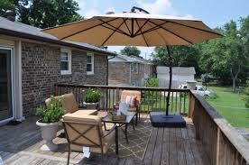 Lowes Patio Umbrella Patio Umbrellas Of Classic Deck Design With Brown Canopy