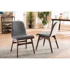 Baxton Studio Embrace Midcentury Retro Modern Scandinavian Style - Grey fabric dining room chairs