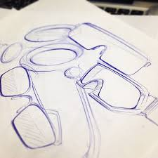 drawn goggles metal object pencil and in color drawn goggles