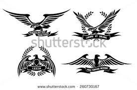 set black eagle logo business company stock vector 255379366