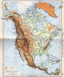 Maps America by North America Physical Classroom Map From Academia Maps North