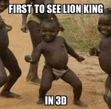 3d Meme - third world success kid first to see lion king in 3d meme explorer