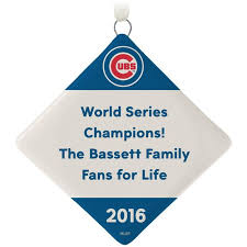 chicago cubs ceramic personalized ornament text only