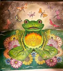 crazy frog coloring page frog enchanted forest a cool crazy coloring pinterest