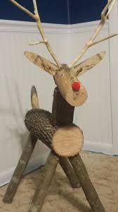 log reindeer log reindeer by donegan diy logs craft and