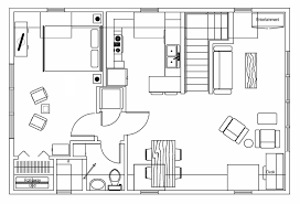 floor plan with furniture home design