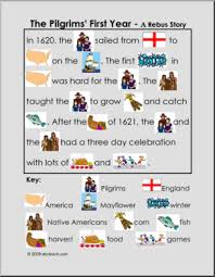 the pilgrims year color rebus i abcteach abcteach