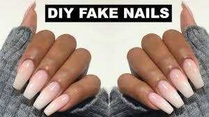 diy easy fake nails at home no acrylic tomboy youtube