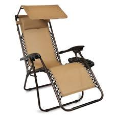 Zero Gravity Lounge Chair With Sunshade Folding Zero Gravity Recline Lounge Chair Canopy Shade Pillow Cup